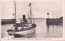 """CPA Belle-Île-en-Mer - Départ De """"L'Emile Solacroup""""  (3830) - Belle Ile En Mer"""