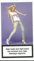 Carte Publicitaire , Jeans Diesel, , Modèle Femme Matic, Cpm , Format 15 Cm Sur 8.5 , Aspect Cartonné, - Moda