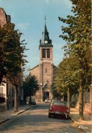 Cpm 95  SAINT-GRATIEN   L'église   Automobiles Gros Plan DS Citroên , 2cv - Saint Gratien