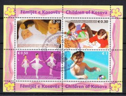 KOSOVO Mi.Nr. Block 2x Kinder- Used - Kosovo