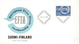 FINLANDIA, SUOMI-FINLAND 1967- FDC EFTA  (European Free Trade Agreement) - FDC