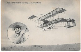 AVIATEUR - MARTINET Sur Biplan H. FARMAN - Aviatori