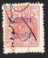 Especial Móvil 25 Cts. Guinea Usado (raro) - Ifni