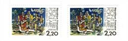 Front Populaire YT 2394  Jaune Au Lieu De Vert . Même Variété Que Carnaval De Venise . Voir Scan Et Description . - Varieteiten: 1980-89 Postfris