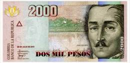 COLOMBIA 2000 PESOS 2010 Pick 457n Unc - Colombia