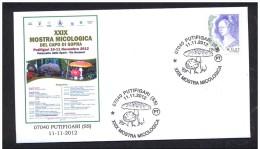 ITALY ITALIA 2012. SPECIAL POSTMARK. PUTIFIGARI. MUSHROOMS. CHAMPIGNONS. SETAS FUNGI - Champignons