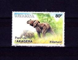 V] Stamp Timbre ** Rwanda Yv. 1221 Elephant - 1980-89: Neufs