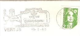 CACHET OBLITERATION FLAMME VERTUS EN CHAMPAGNE  ENVELOPPE 22X11 - 1961-....