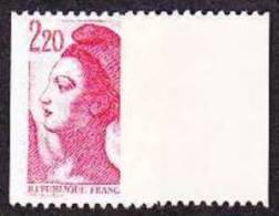 France Roulette N° 2379 C ** Liberté De Gandon -> Le 2.20 Frs Rouge Gomme Jaunâtre Brillante - Rollen