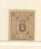 ISLANDE  ( EUIS - 112 )  1876  N° YVERT ET TELLIER     N°  4   N* - Oficiales