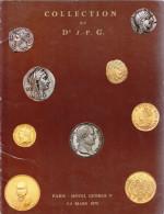 MONNAIES DE COLLECTION ANCIENNES Dr J P G CATALOGUE DES 3 ET 4 MARS1975 NUMISMATIQUE VENTE SUR OFFRES DE CRESUS A LA 5iè - French