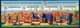 AZERBAIJAN 2002 Junior Chess Championship Block  MNH / ** - Aserbaidschan