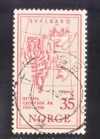 Norway 1957 Map Of Spitsbergen Used - Norvège