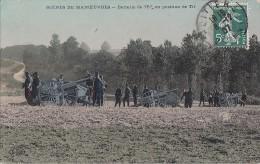 Militaria - Manoeuvres - Artillerie Canon - Cachets 1907 Poitiers Pellouailles 49 - Manoeuvres
