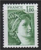 N°1973a**-1.00 Vert - Gomme Tropicale - 1977-81 Sabine De Gandon