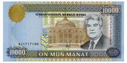 TURKMENISTAN 10000 MANAT 1996 Pick 10 Unc - Turkmenistan