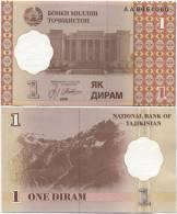 10 X Tajikistan 1 Diram 1999 UNC P-10 (AA Prefix) - Tajikistan