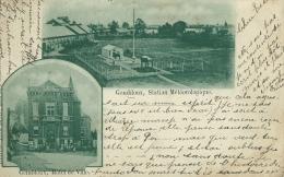 Gembloux - Station Métérologique Et Hôtel De Ville - 2 Vues - 1900 ( Voir Verso ) - Gembloux