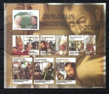 GUATEMALA. BF 28 De 2002 (neuf Sans Charnière/MNH). Pape Jean-Paul II. - Popes