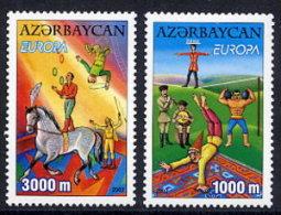 AZERBAIJAN 2002 Europa: Circus Set Of 2 MNH / ** - Azerbaïjan