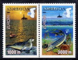 AZERBAIJAN 2001 Europa: Water Resources Pair From Booklet  MNH / ** - Azerbaïjan