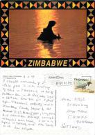 Hippopotamus, Tanzania Postcard Used Posted To UK 1995 Stamp - Tanzania