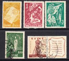 GUINÉ 1948/1951.AFINSA Nº 261/265. USADOS  .SES 483 - Guinea Portuguesa