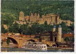 HEIDELBERG - Alte Brücke Und Schloss, FAHRGASTSCHIFF Schiff, Ship, Navire, Nave, Autobus - Heidelberg