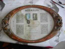 Cadre Medailles Croix De Guerre Ww2 1939-45 15 ème Régiment Régional Photo Militaire Stalag 6G - Médailles & Décorations