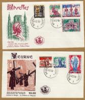 Enveloppe Cover Brief  FDC 1082 à 1088 Noël Légendes Et Folklore Belge Deurne Nivelles - FDC