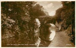 Lea Bridge, Walton Near Stockton Heath, Cheshire Postcard Valentine's RP - England