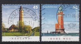 Germany 2006   Leuchtturme (o)  Mi.2555-2556 - [7] Federal Republic