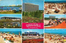 Litoral Black Sea Riviera, Romania Postcard Used Posted To UK 1969 Nice Stamps - Romania