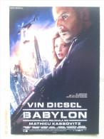 Folleto De Mano. Película Babylon. Vin Diesel. Gerard Depardieu. Francia - Estados Unidos. 2008 - Cinemania