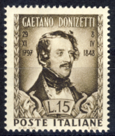 Donizetti - 1948 - 15 Lire Bruno (Sassone 593MG) MNH** - 1946-60: Nuovi