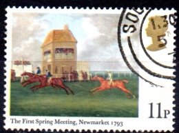"""GREAT BRITAIN 1979 Horse-racing Paintings - 11p. - """"The First Spring Meeting, Newmarket, 1793""""  FU - Used Stamps"""