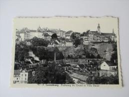 AK / Bildpostkarte Luxembourg Faubourg Du Grund Et Ville Haute. Phototypie A. Dohmen - Luxemburg - Stadt