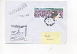 Patrouilleur ALBATROS Mission TAAF 07/99 - CAD LE PORT MARINE / REUNION 05/01 (variété SANS L´ANNEE) Sur Timbre TAAF - Postmark Collection (Covers)
