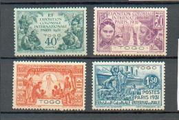 Togo 375 - YT 161 à 164 * - Neufs