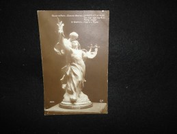 Carte Photo ( 1900 - 1910 )  Sculpture De  Charles Breton. Le Poète Et La Muse. - Sculptures