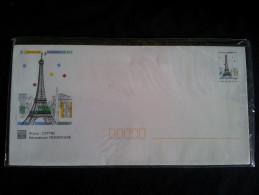 """Serie 5 Enveloppes """"pret A Poster"""" Panorama De Paris , Sous Blister - Entiers Postaux"""