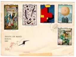 CUBA 1967 - FDC SALON DE MAYO HABANA - FDC