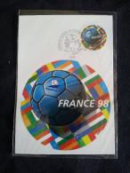 """CP, France 98, Coupe Du Monde De Football """"premier Jour""""  Sous Blister - Entiers Postaux"""