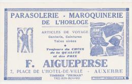 "Buvard Ancien ""F.Aigueperse"" Auxerre  Maroquinerie¨parasolerie - Carte Assorbenti"