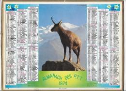 CALENDRIER - ALMANACH DES POSTES ET DES TELEGRAPHES - ANNEE 1974 - Département De SEINE ET MARNE - Calendars