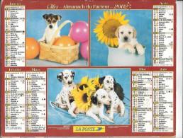 CALENDRIER - ALMANACH DES POSTES ET DES TELEGRAPHES - ANNEE 2002 - Département De SEINE ET MARNE - Calendriers
