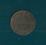 VITTORIO EMANUELE II  5 CENTESIMI 1867 NAPOLI - 1861-1946 : Kingdom