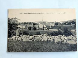 Carte Postale Ancienne : SAINT-LAURENT DU JURA : Vue De La Gare , Animé - Autres Communes