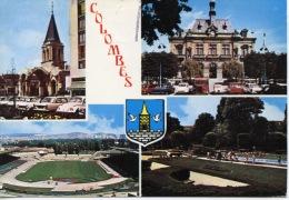 Colombes Multivues Clocher église Mairie Stade Square Aux Oiseaux N°935 Abeille - Colombes