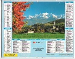 CALENDRIER - ALMANACH DES POSTES ET DES TELEGRAPHES - ANNEE 1994 - Département De L´HERAULT - Big : 1991-00